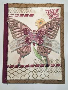 Mother's Day card uses Stampin' Up Butterfly Basics stamps and dies. Main color is Rich Razzleberry. 5 X 7 card.