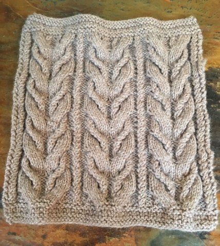 Knitted blanket squares for Norah's Vintage Afghan free knitting pattern