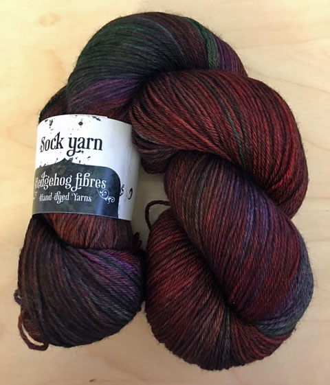 Hedgehog Fibres Sock Yarn in Vengeance