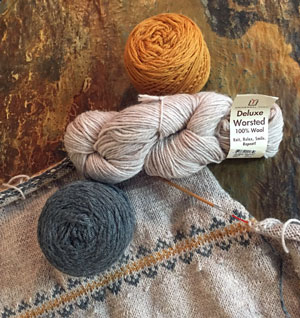 Yarn used in my Zuni Cardigan knitting pattern
