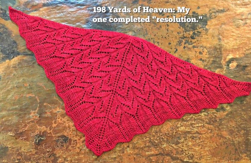 198 Yds of Heaven Knit Shawl Pattern