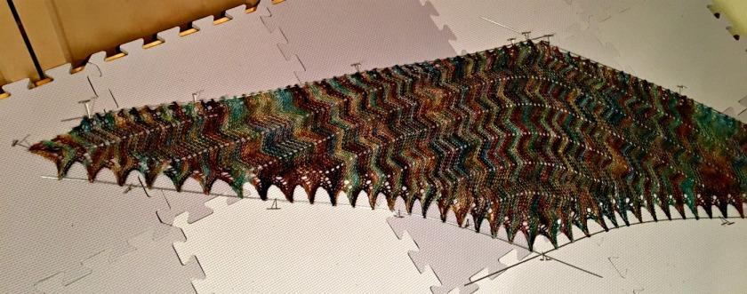 Vittorio knit lace shawl by Corinna Ferguson