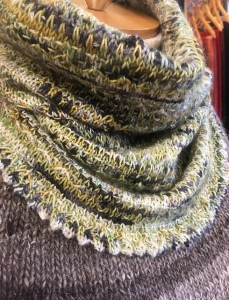 Brain Frieze knit cowl pattern by Susan Ashcroft