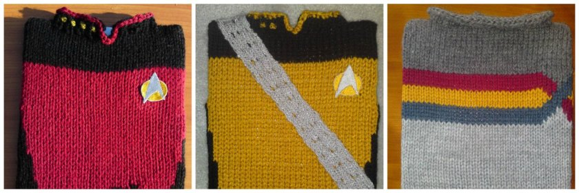 knitted star trek ipad covers